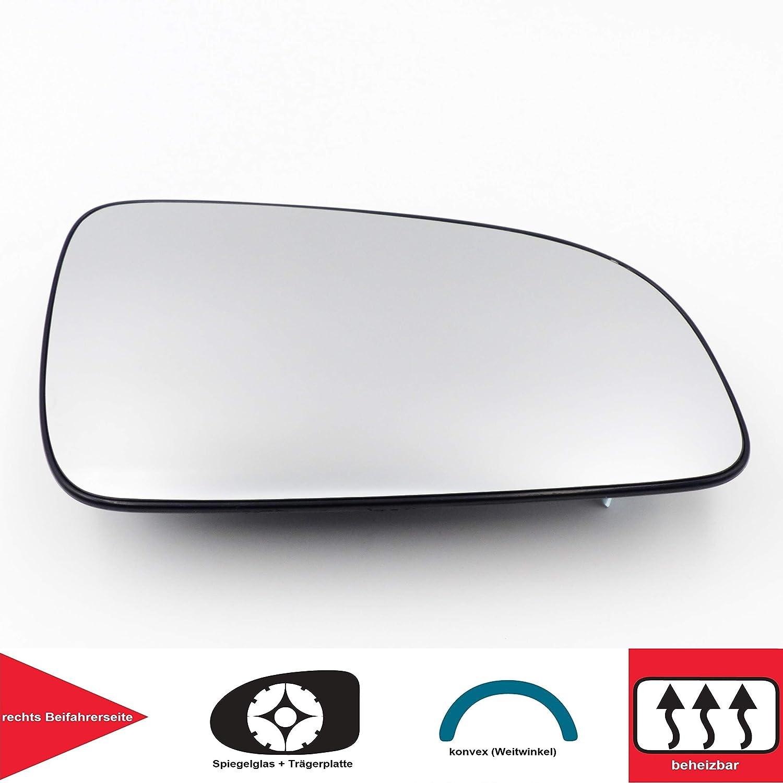 QSParts 4727 Spiegelglas Heizbar F/ür 5 T/üren rechts Beifahrerseite