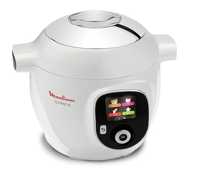 Moulinex Cookéo Blanc 150 Recettes 1600W 6L CE851100: Amazon ...
