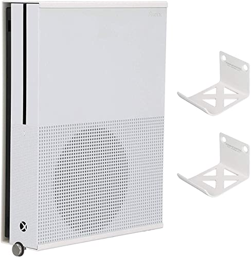 HumanCentric Wall Mount Compatible with Xbox One S 2 Controller Mounts Bundle White Mount on The Wall or on The Back of The TV