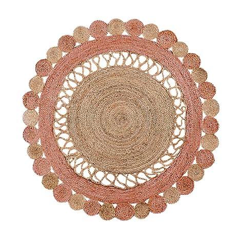 Alfombra rosada alfombra dormitorio redondo cojín de la ...