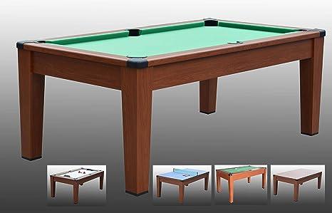Tavolo Cucina Biliardo.Tavolo Da Biliardo Trasformabile In Tavolo Poker Air Hockey Ping Pong Daytona 5 In 1 Carambola 196 Cm X 110 Cm X 82 Cm Completo Di