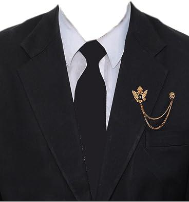 Buy Michelangelo Golden Brass Tassel Chain Brooch Lapel Pin For Men