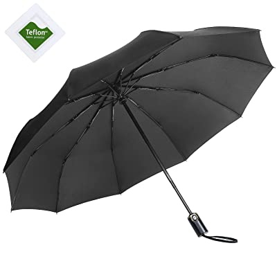 Rainlax Folding Umbrella Windproof Travel umbrellas, Automatic Open and Close Compact Rain & Sun Umbrellas 60%OFF