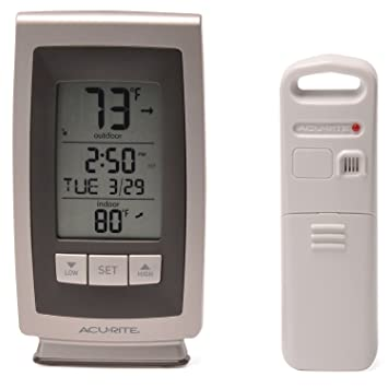 AcuRite Digital Thermometer with Indoor / Outdoor Temperature