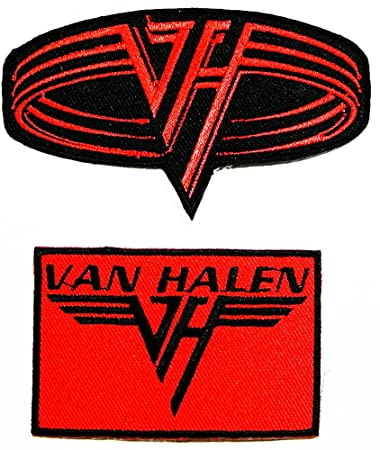 amazon com van halen heavy metal rock punk music band logo patch rh amazon com Kiss Band Logo Heavy Metal Band Logos