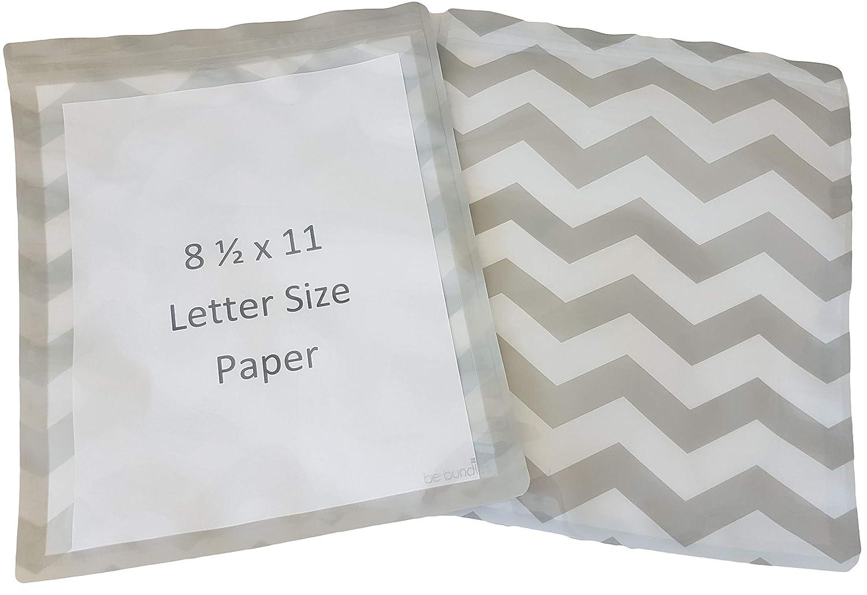 Be Bundles WATERPROOF Organizer/Storage Bags, 10-Pack, Gallon, Grey - BPA AND VINYL FREE! Great for paperwork, documents, toiletries, etc. | ziplock type bag | REUSABLE | Food grade