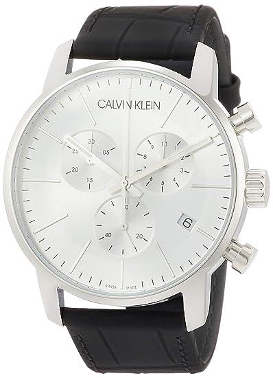 Calvin Klein - Reloj de Pulsera Hombre cronógrafo Cuarzo Acero Inoxidable K2G271 C6: Amazon.es: Relojes