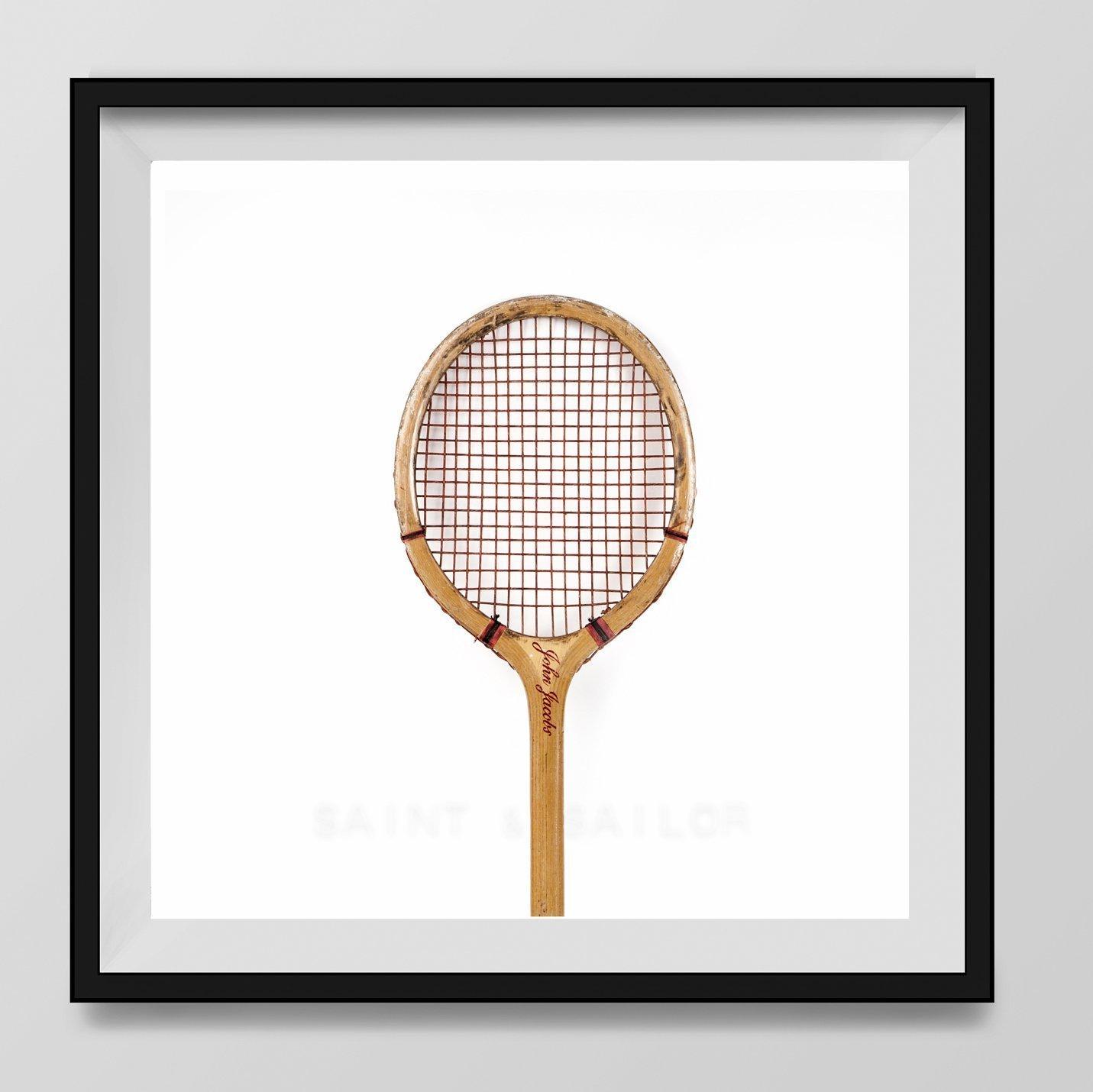 Vintage Tennis Racket on White Background Fine Art Photography Print, Vintage Sports Nursery Art, Sports Decor, Man Cave art, Sport Prints, Boys Nursery decor, Kids Room Wall Art,