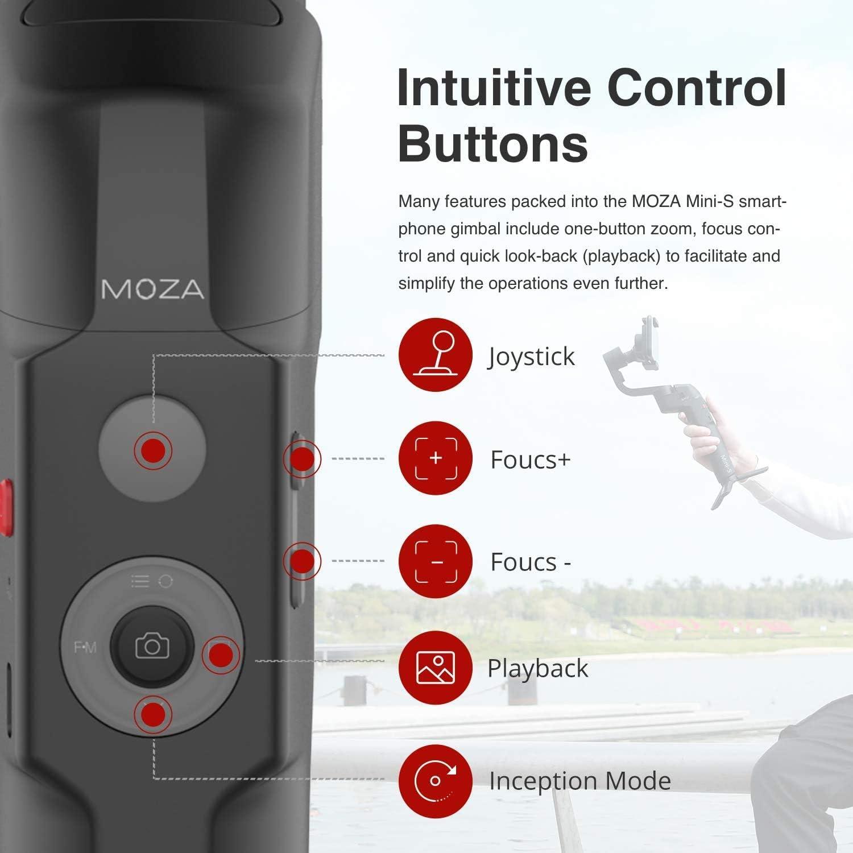 Moza Mini S 3 Achsen Zusammenklappbarer Kamera