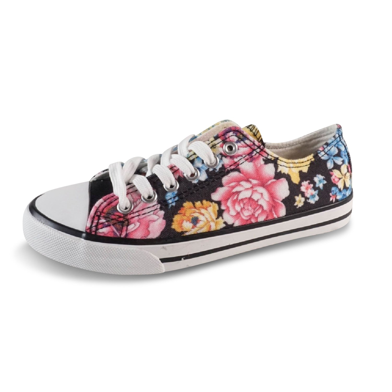 Schuhtraum Damen Sneakers Schnürer Halbschuhe Blumen Low Top Geblümt Bunt  Slipper JS802  Amazon.de  Schuhe   Handtaschen dc0c9417da