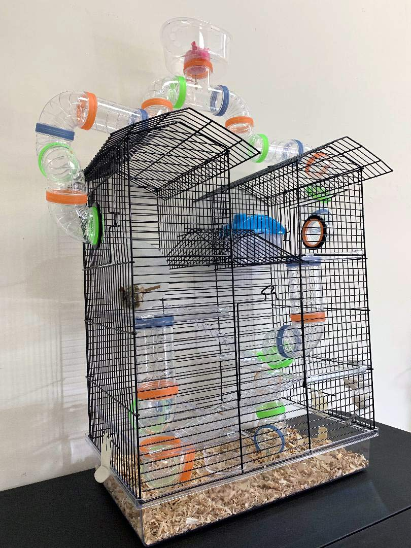 Large Watching Tower 5 Level Clear Transparent Habitat Dwarf Syrian Hamster Rodent Gerbil Mouse Mice Critter Cage