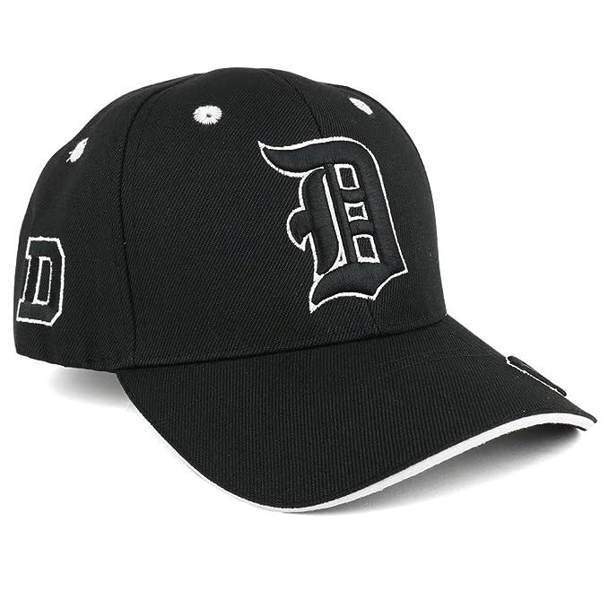6790687ab0b Trendy Apparel Shop Gothic Alphabet Letters 3D Monogram Embroidered  Structured Baseball Cap - Letter D