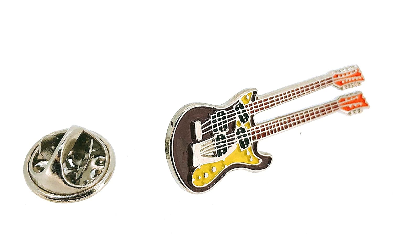 Gemelolandia Pin de Solapa Guitarra Eléctrica Doble Mástil: Amazon.es: Joyería