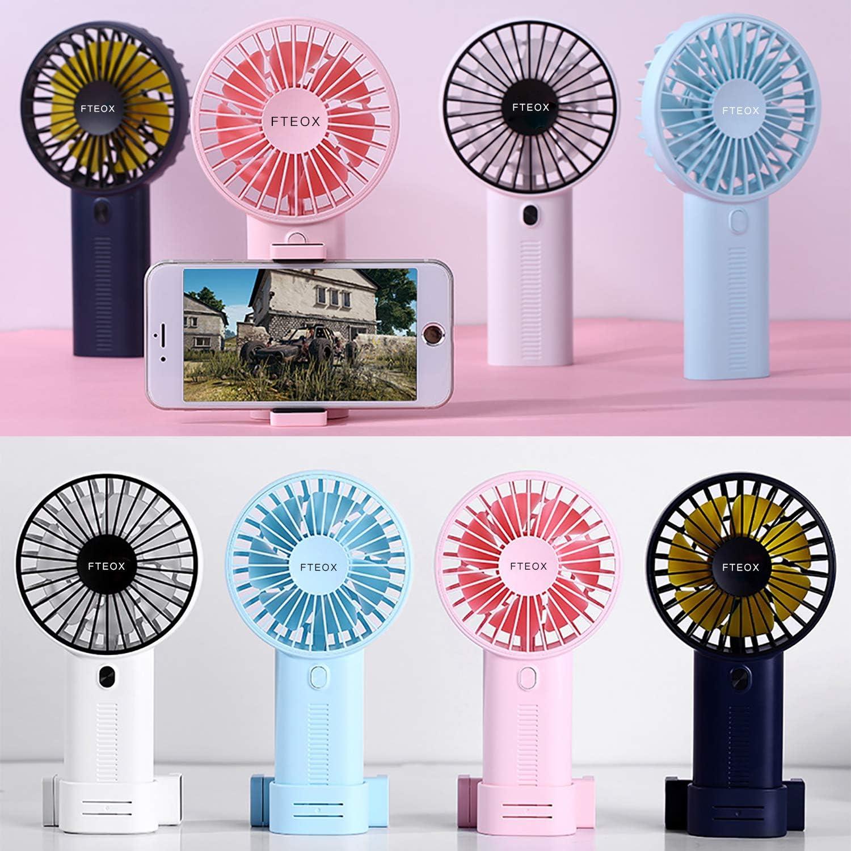 Mini Portable Cooling Fan USB Fan Charging Handheld Multi-Function Mini Fan Portable Folding Small Fan Summer Color : Pink
