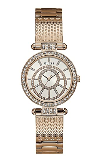 Guess Muse Analog White Dial Women's Watch-W1008L3 Women at amazon