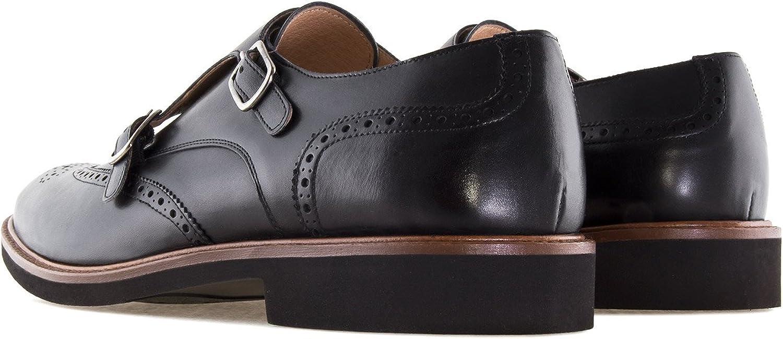 para Hombre Tallas Peque/ñas de la 37//40 Fabricaci/ón Espa/ñola Andres Machado.6314.Zapato Monk Piel Tallas Grandes 47//50
