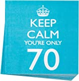 Neviti Keep Calm Napkins You're Only 70, Pack of 20