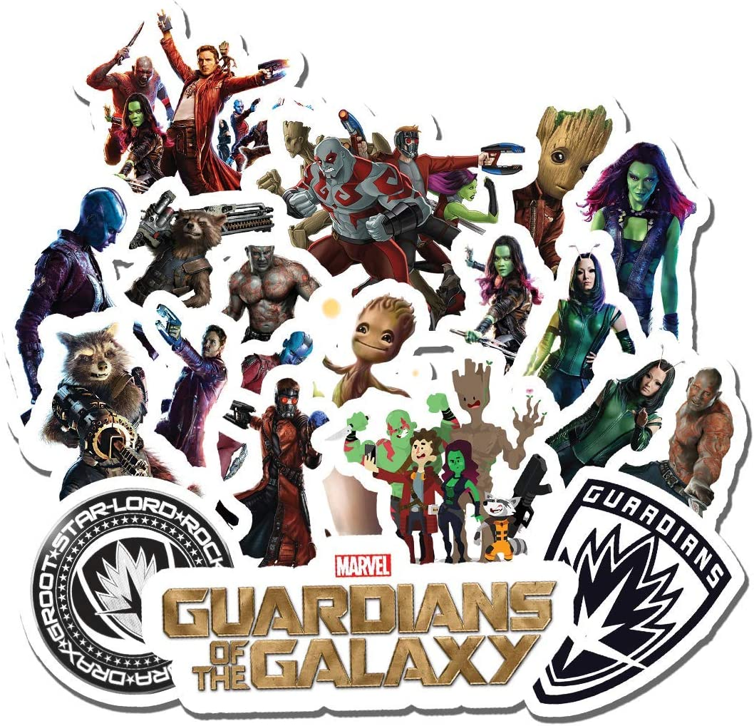 20 PCS Stickers Pack Guardians Aesthetic of Vinyl The Colorful Galaxy Waterproof for Water Bottle Laptop Scrapbooking Luggage Guitar Skateboard