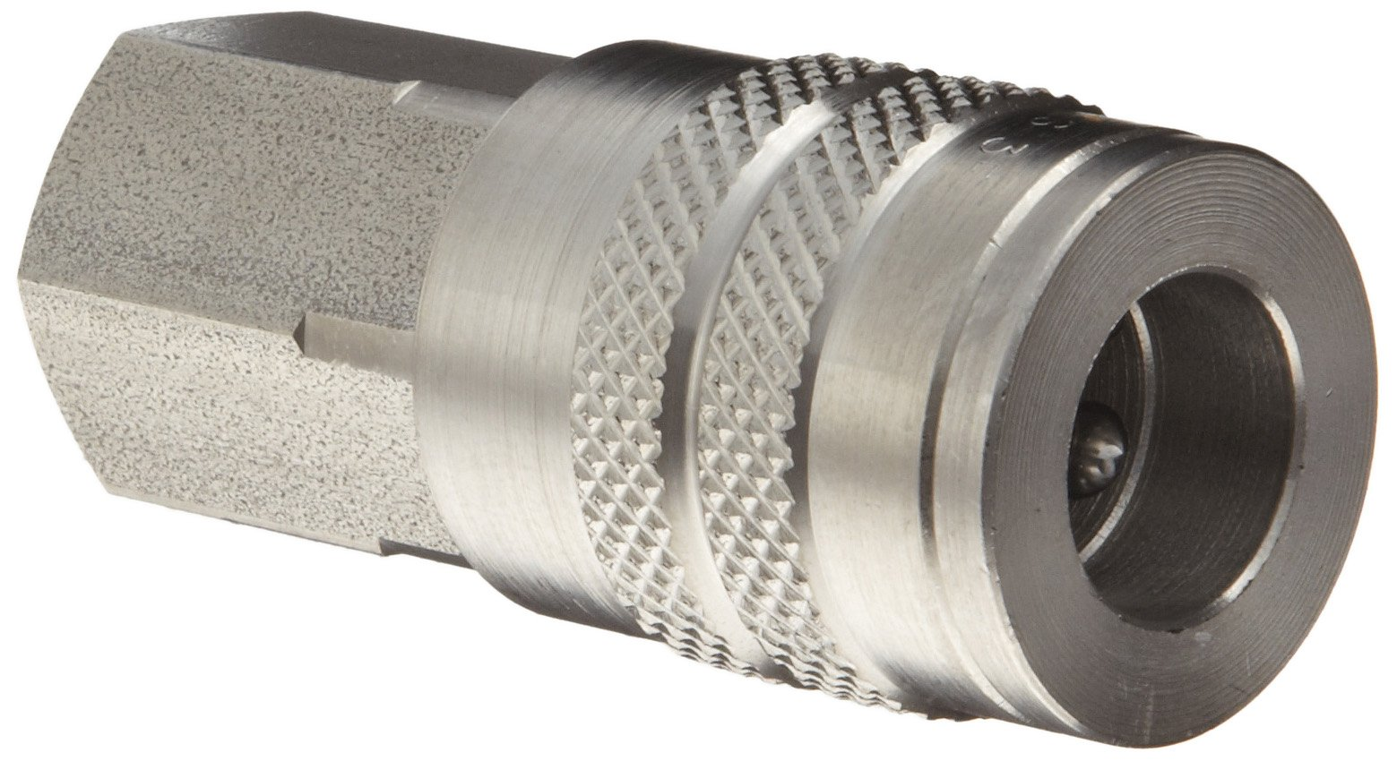 Dixon DC26S Stainless Steel 303 Air Chief Industrial Interchange Quick-Connect Hose Fitting, 3/8'' Coupling x 3/8'' NPT Female