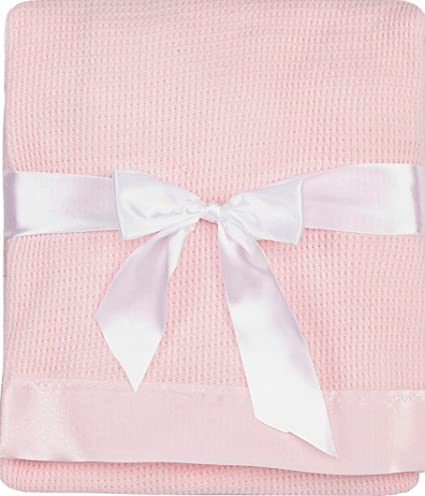 Baby Boys Girls Soft Touch Little Hugs Waffle Blanket Wrap In Multi Colours