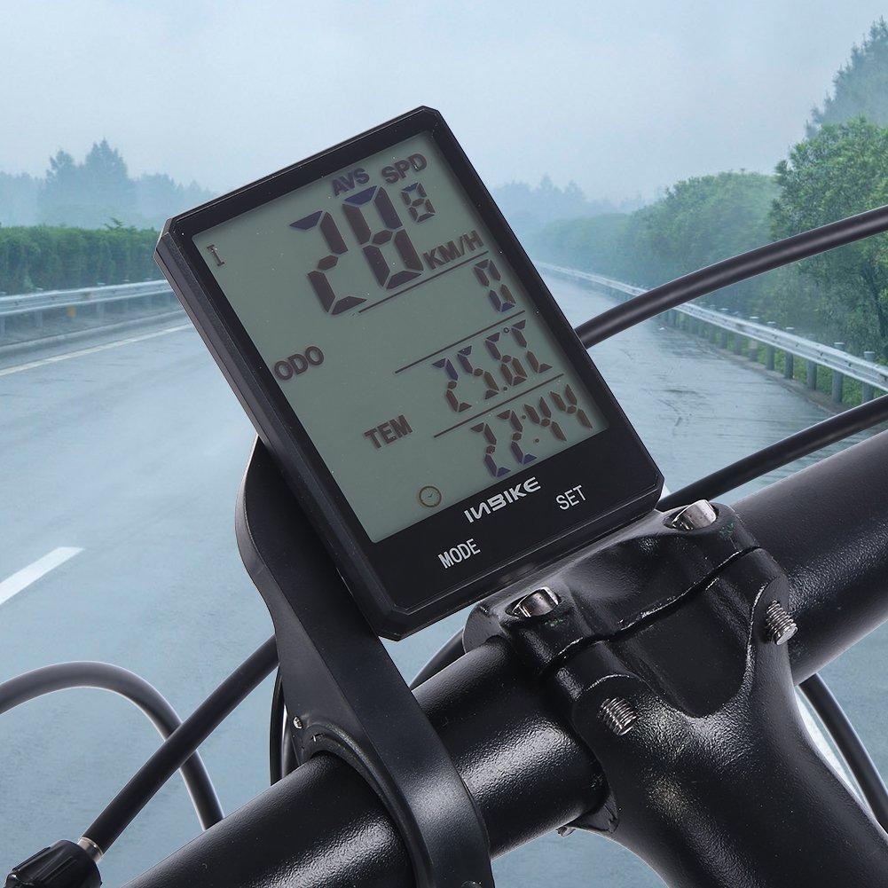 Alomejor Inbike Medidor De Velocidad De Bicicleta Impermeable Ligero Port/áTil Bicicleta Bicicleta De Monta/ñA