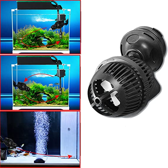 Bomba de flujo Wave Maker Bomba de flujo de acuario Bomba de circulación de agua de mar plana con imán Hierro Flujo máximo de bomba 3000 L / H Peso 0.6kg: ...