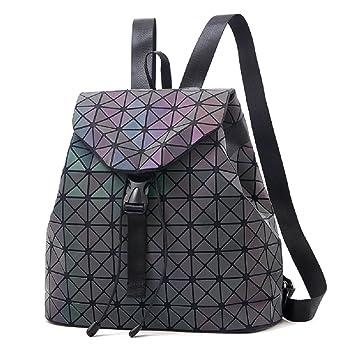 71e7511378bcf Frauen Geometrisch Leuchtend Rucksack und Handtasche Damen Fashion  Schultertasche Lingge Flash Travel Rucksack NO.1