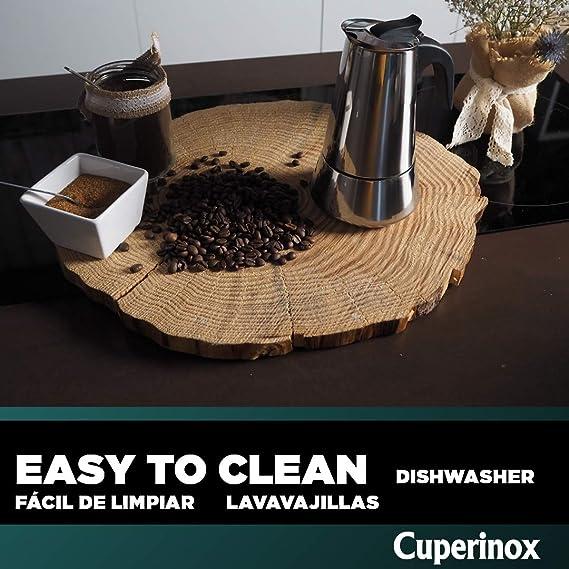 CUPERINOX Cafetera italiana induccion | 6 tazas | cafetera express ...