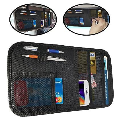 Amazon.com  Lebogner Car Sun Visor Organizer a9db75523d1