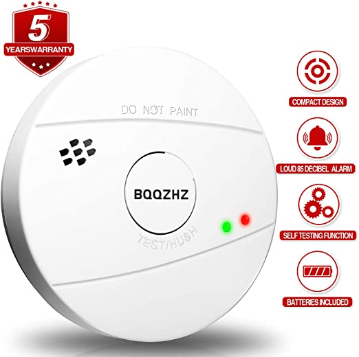 2 Pack Combination Smoke and Carbon Monoxide Detector Smoke Co Alarm for Home Bedroom Travel Portable