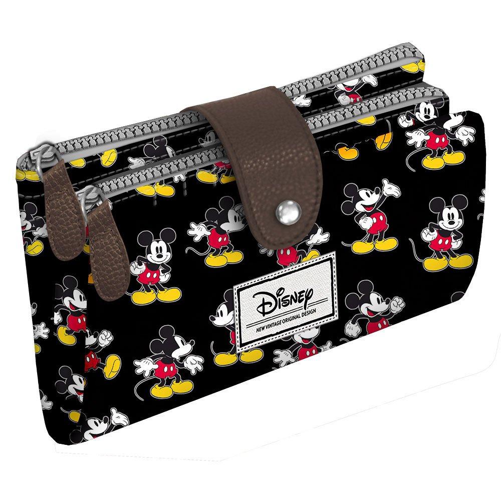 Disney Classic Mickey Moving Portamonete, 18 cm, Nero (Negro) Karactermania 36491