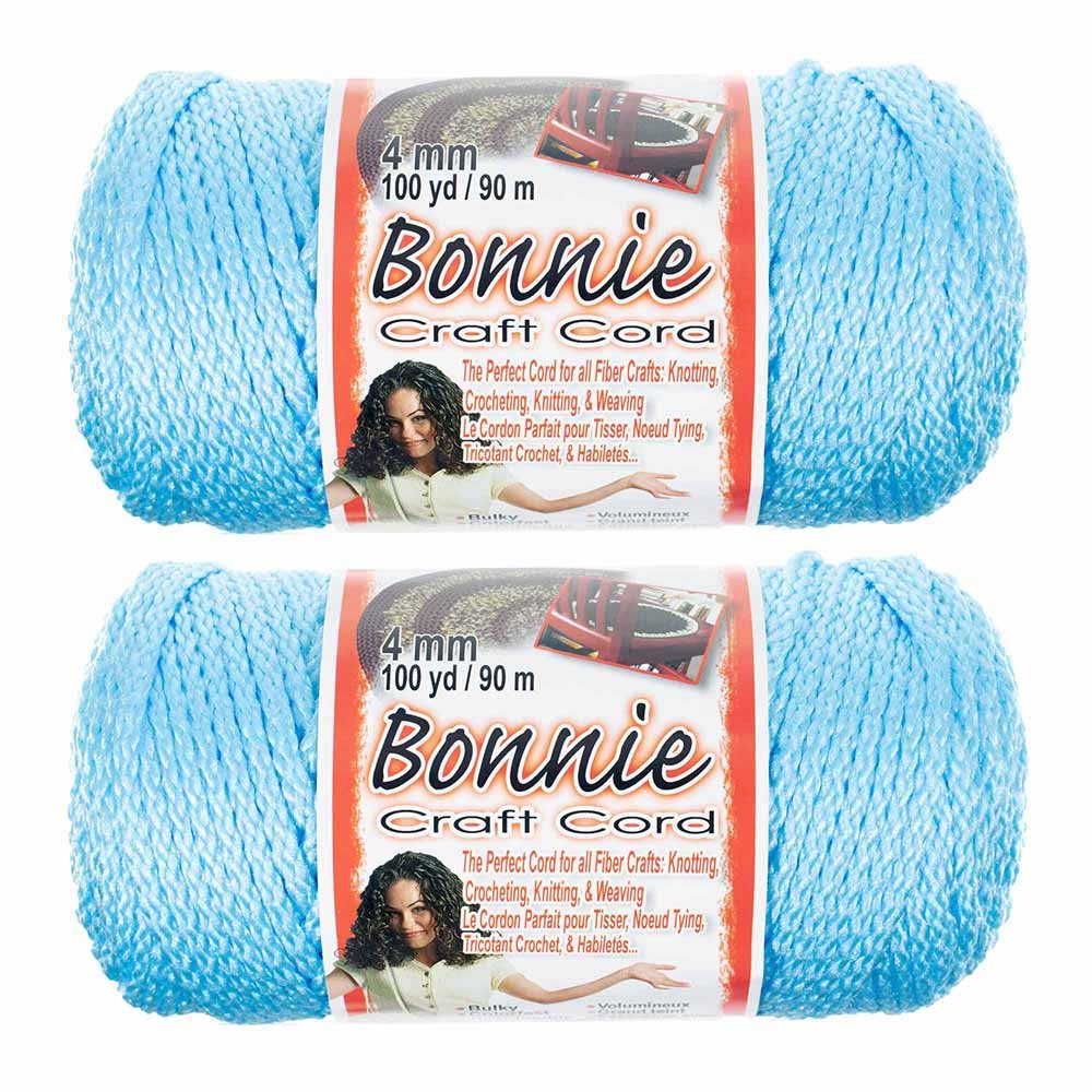 2 Pack Bonnie Macramé Cord – 4mm – 100 yd Lengths – Various Colors Craft County