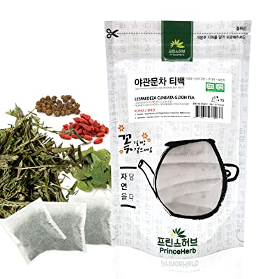 [Medicinal Korean Herb Tea] 100% Natural Male Enhancement Tea (Lespedeza Cuneata G. Don, Horny Goat Weed, Goji Berries & Fructus Rubi) / 야관문 티백 차 40g (15 teabags) : Garden & Outdoor
