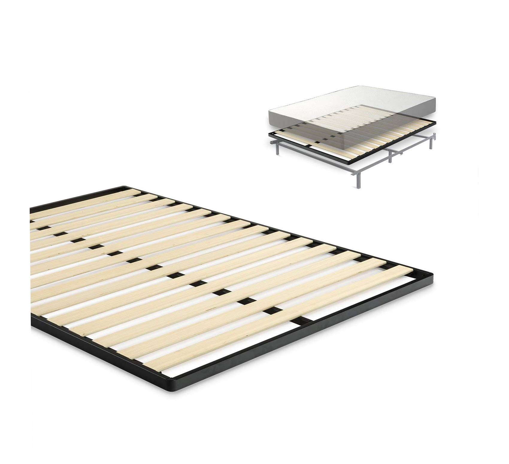Easy Assembly Wood Slat 1.6 Inch Bunkie Board/Bed Slat Replacement, Full Comfy Living Home Décor Furniture Heavy Duty