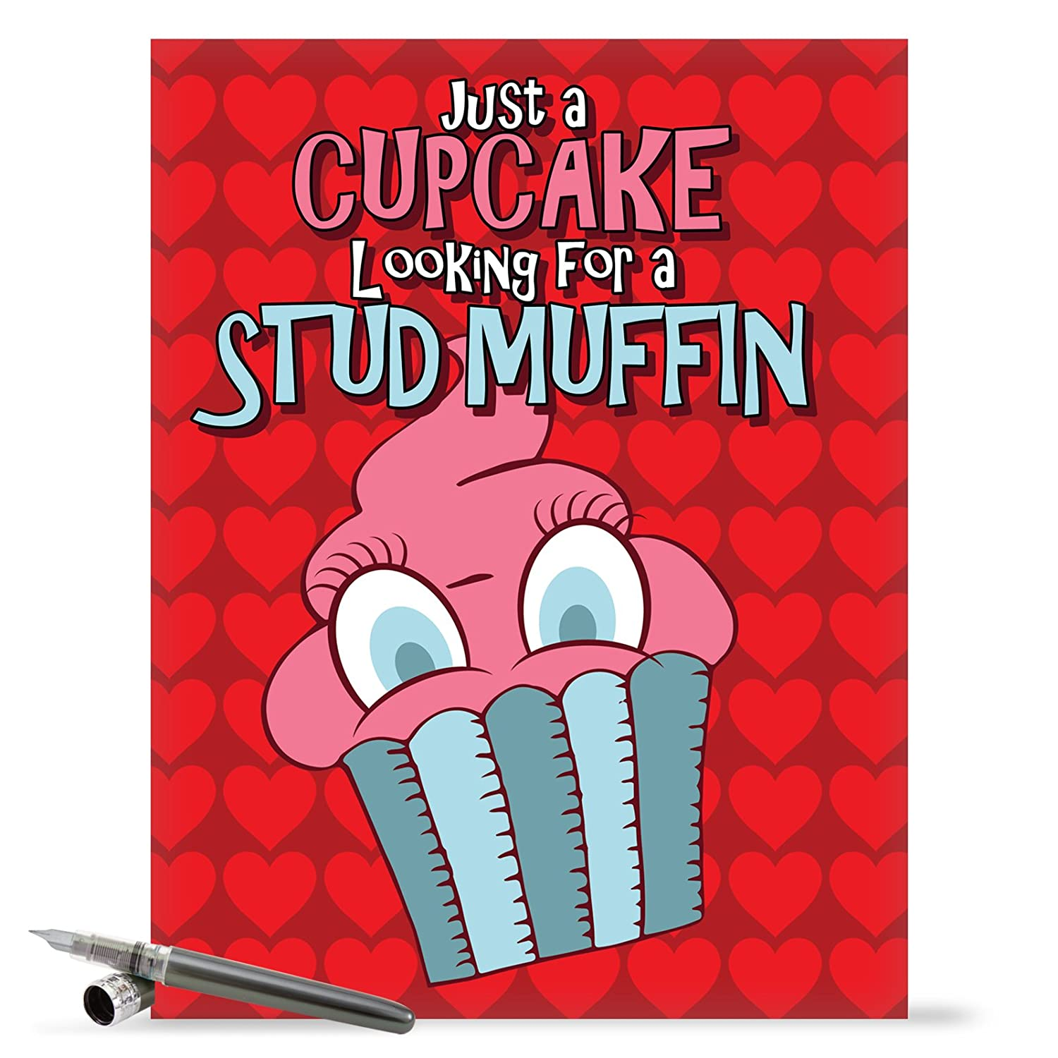 J1668VDG Jumbo Funny Valentine's Day Card: Stud Muffin With Envelope (Extra Large Version: 8.5'' x 11'')
