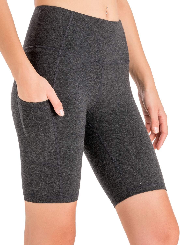 Women/'s High Waist Tummy Control Workout Yoga Shorts Outdoor Shorts Side Pockets