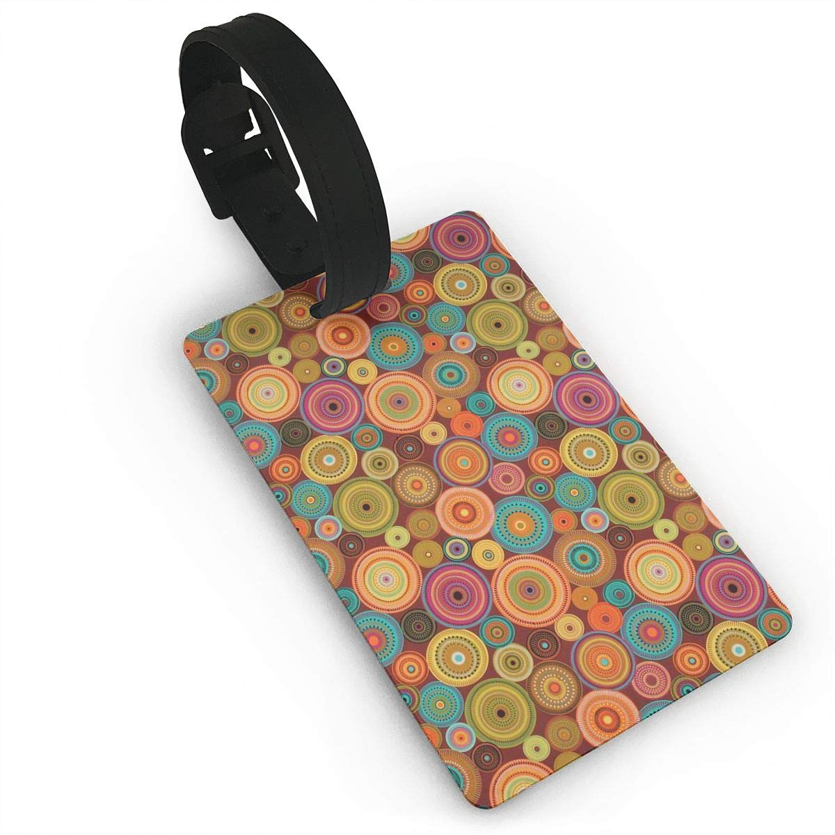 Colorful Polka Dot Handbag Tag For Travel Bag Suitcase Accessories 2 Pack Luggage Tags