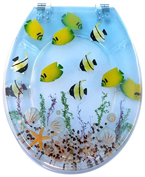 Tropical Fish Resin Toilet Seats  Amazon co uk Kitchen Home