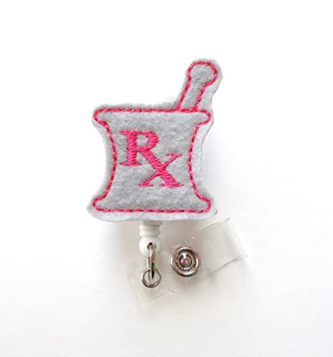 Amazon.com: RX Mortero y pilón (Rosa y Gris – RX Badge ...
