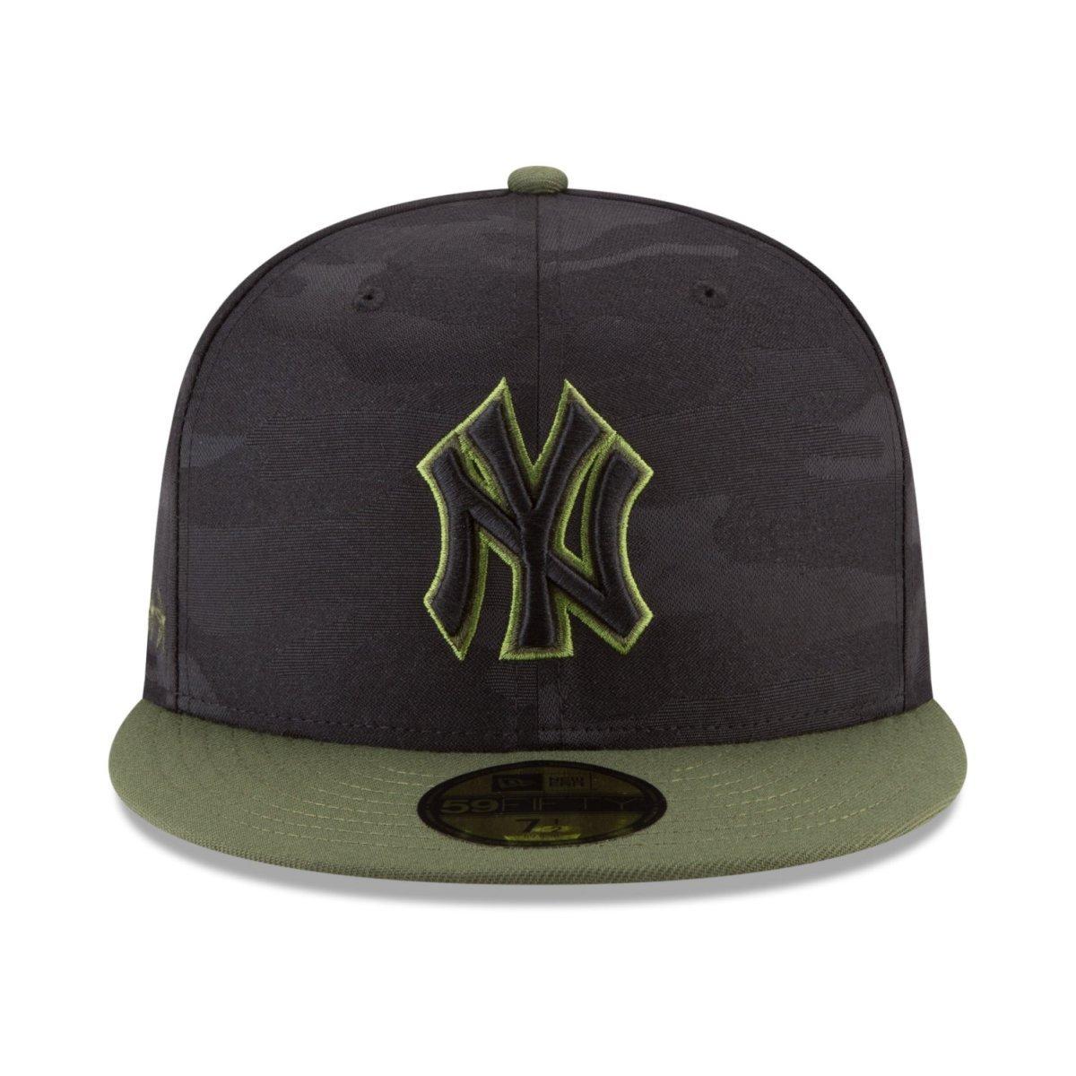 20c8213769560 Gorra New Era 9 Fifty MLB Yankees Memorial Day Camu Negro - Negro - 7 1 8   Amazon.com.mx  Ropa