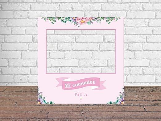 Photocall Mi Primera Comunión Niña 100 x100 cm | Regalos para Comuniones | Photocall Económico y Original | Ideas para Regalos | Regalos ...