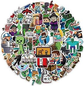Minecraft| Stickers(56 PCS),Vinyl Stickers for Laptop, Water Bottle, Bike, Car, Motorcycle, Bumper, Luggage, Skateboard Graffiti Decal