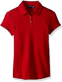 c0ddef40 Nautica Girls' School Uniform Short Sleeve Pique Polo