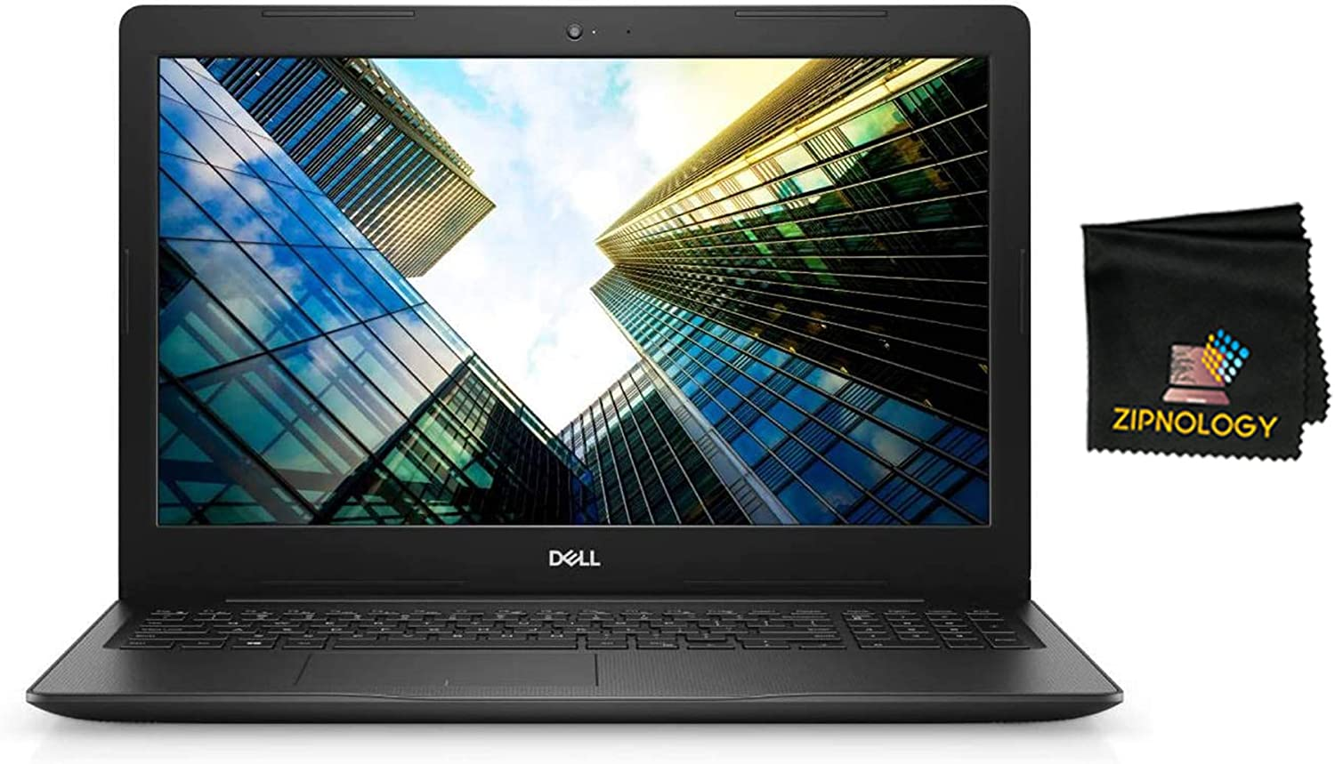 Dell Inspiron 15 3000 Series 3593 - 15.6inch HD Laptop Non-Touch - Intel Core i3-1005G1 - 256GB SSD - 8GB DDR4 - Intel UHD - Windows 10 Home 64-bit + Zipnology Screen Cleaning Cloth Bundle - New