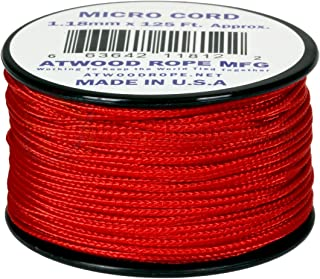 product image for Red MS03 1.18mm x 125' Micro Cord Paracord Made in the USA