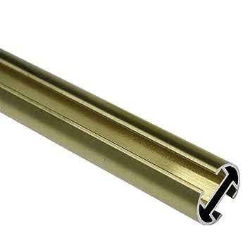 Rohr für Gardinenstangen 20 mm Ø in 160 cm Edelstahl-Optik aus Metall