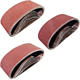 Sackorange 24 PCS 4 inch x 24 inch Sanding Belts - 8 Each of 80 120 150 Grit Aluminum Oxide Sanding Belts For Belt…