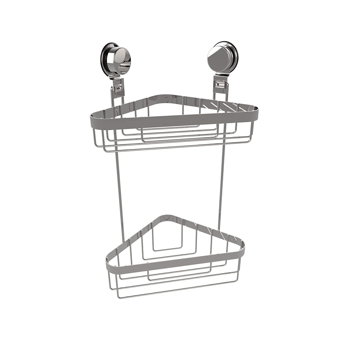 Amazon.com: Lavish Home Wall Mounted Two Tier Corner Caddy-Shower ...