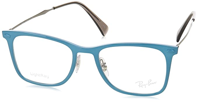 d40c0cdd53 Amazon.com  Ray-Ban Unisex RX7086 Eyeglasses Acquamarine 49mm  Clothing