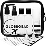 GLOBEGEAR Travel Bottles & TSA Approved Toiletry Bag Clear Quart Size with Leak-Proof Travel Accessories & Containers for Liquids 3-1-1 Carry-On Luggage Compliant for Airplane - Women/Men